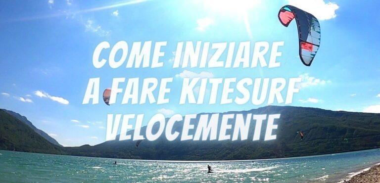 come imparare a fare kitesurf velocemente